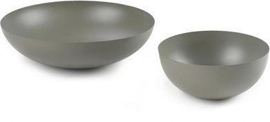 Kommen Shar - set van 2 - metaal - groen  - La Forma